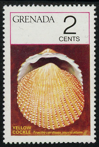 Grenada Sea Shell Yellow Cockle Marine Ocean Individual Stamp Mint NH