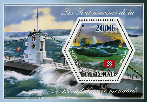 World War II Submarine Unterseeboot 99 Souvenir Sheet Mint NH
