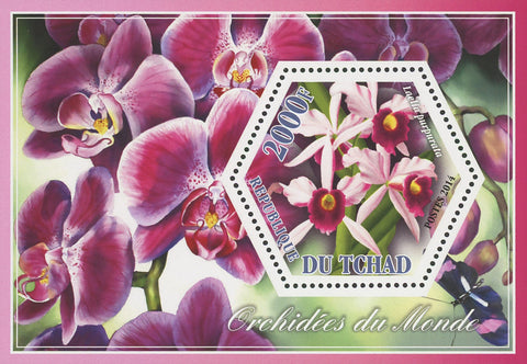 Orchid Plant Flower Nature Laelia Purpurada Flora Souvenir Sheet Mint NH