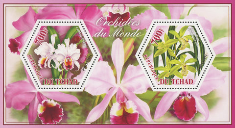 Orchid Flower Cattleya Cymbidium Souvenir Sheet of 2 Stamps Mint NH