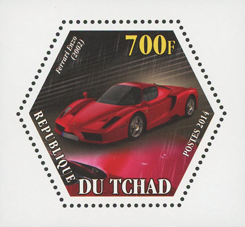 Ferrari Car Transportation Luxury Enzo Mini Souvenir Sheet Mint NH