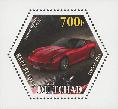 Ferrari Car Transportation Luxury 599 GTO Mini Souvenir Sheet Mint NH
