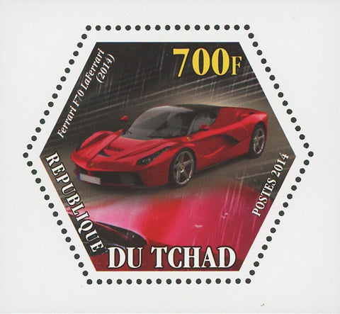 Ferrari Car Transportation Luxury F70 LaFerrari Mini Souvenir Sheet Mint NH