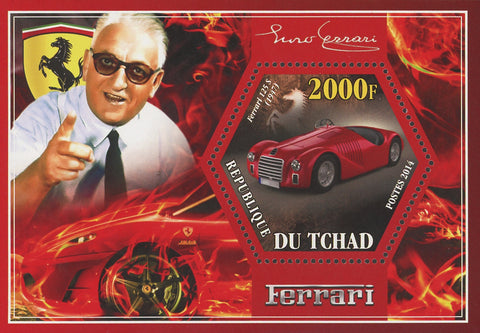 Ferrari Car Transportation Luxury 125 S Mini Souvenir Sheet Mint NH