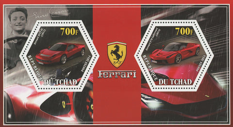 Ferrari Car Transportation SP12 LaFerrari Souvenir Sheet of 2 Stamps MNH