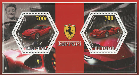Ferrari Car Transportation F12 Berlinetta P4-5 Pininfarina Souvenir Sheet MNH