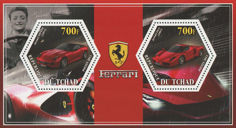 Ferrari Car Transportation 599 GTO Enzo Souvenir Sheet of 2 Stamps Mint NH