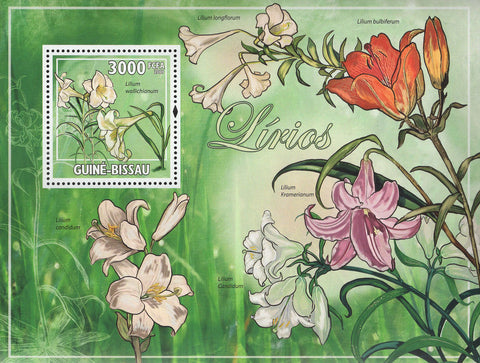 Lilies Flowers Souvenir Sheet Mint NH