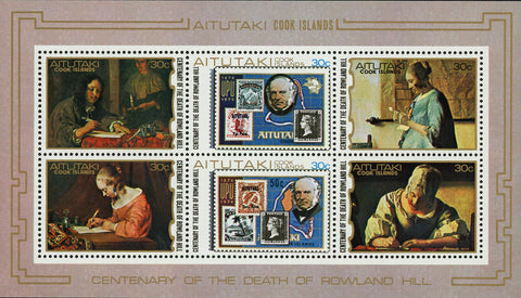 Rowland Hill Famous People Postal Service Souvenir Sheet of 6 Stamps MNH