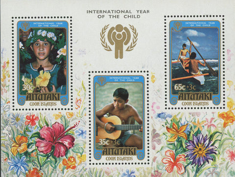 International Year of the Child 1979 Souvenir Sheet of 3 Stamps MNH