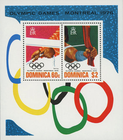 Olympic Games Sport London 1976 Souvenir Sheet of 2 Stamps Mint NH