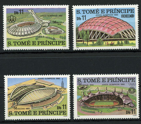 Olympic Games Stadium Sport Mexico Moscow Serie Set of 4 Stamps MNH