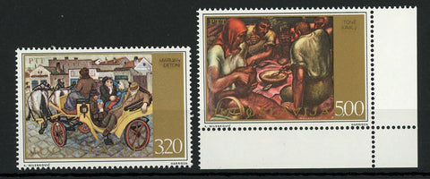 Yugoslavia Art Social Paiting Artist Serie Set of 2 Stamps MNH