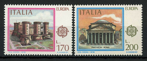 Italy Pantheon Roma Napoli Architecture Serie Set of 2 Stamp Mint NH