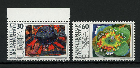 Principality of Liechtenstein Contemporary Art Serie Set of 2 Stamp Mint NH