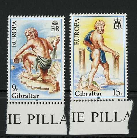 Gibraltar Pillars of Hercules Serie Set of 2 Stamp Mint NH