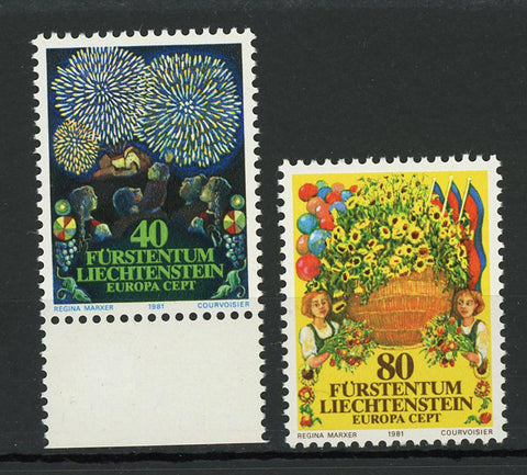 Principality of Liechtenstein Europe Celebration Spring Serie Set of 2 Stamp Min