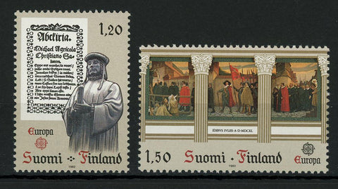 Finland Art Painting Europe Serie Set of 2 Stamp Mint NH