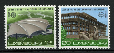 Luxemburg Europe Architecture Famous Buildings Serie Set of 2 Stamp Mint NH