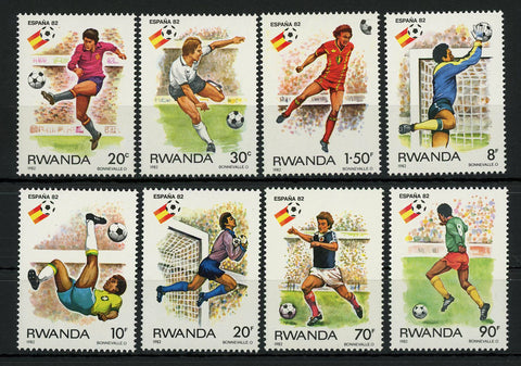Soccer Sport Cup Spain '82 Serie Set of 8 Stamps Mint NH