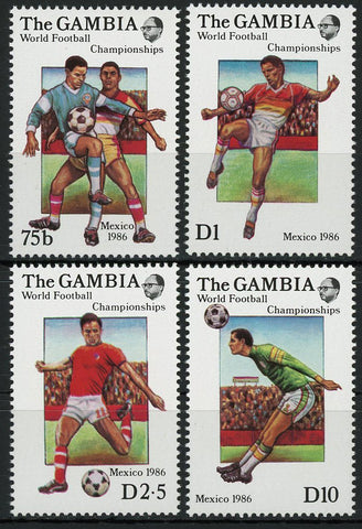 Soccer Sport Cup Mexico 1986 Serie Set of 4 Stamps Mint NH