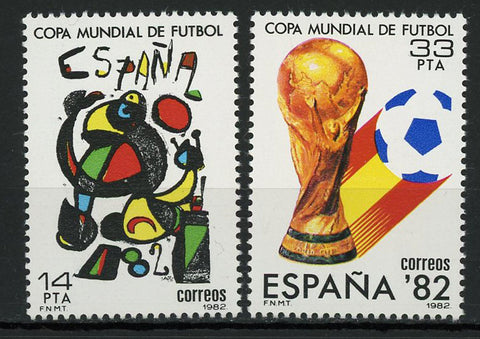 Spain Soccer Sport World Cup '82 Serie Set of 2 Stamps Mint NH