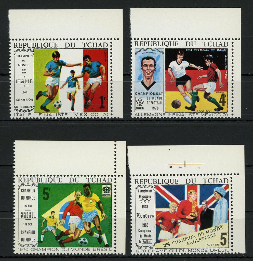 Soccer Sport Cup Mexico 1970 Serie Set of 4 Stamps Mint NH
