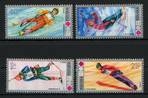 Poland Winter Olympic Games Sport Serie Set of 4 Stamps Mint NH