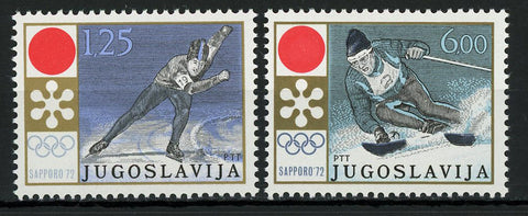 Yugoslavia Winter Olympic Games Sport Sapporo Serie Set of 2 Stamps Mint NH