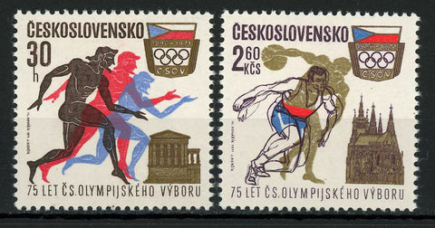 Czechoslovakia Olympic Games Sport Serie Set of 2 Stamps Mint NH