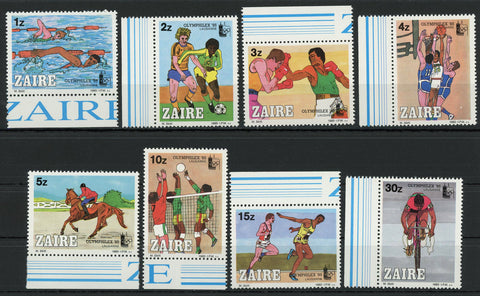 Olympic Games Sport Swimming Biking Serie Set of 8 Stamps Mint NH