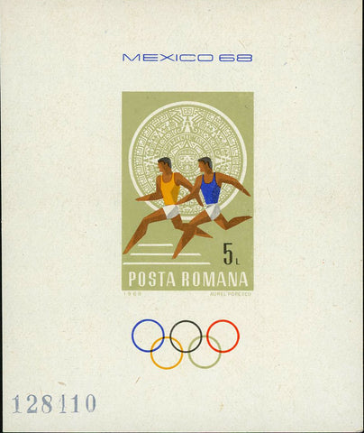 Romania Olympic Games Sport Mexico Souvenir Sheet Mint NH