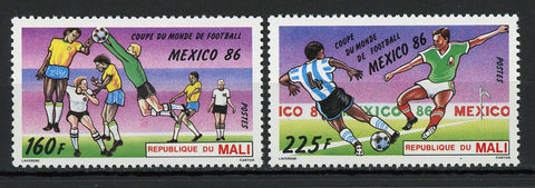 Soccer Sport World Cup Mexico '86 Serie Set of 2 Stamps Mint NH