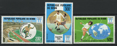 Soccer Sport World Cup Argentina '78 Serie Set of 3 Stamps Mint NH