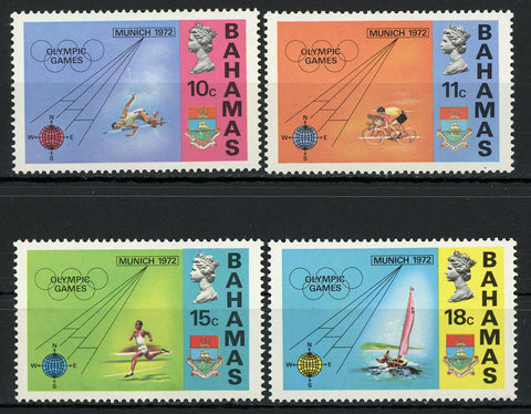 Bahamas Olympic Games Munich '72 Sport Serie Set of 4 Stamps Mint NH