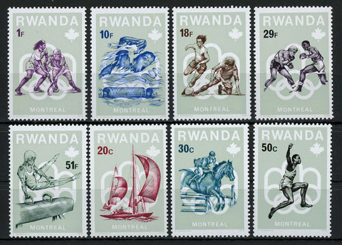 Montreal Olympic Games Sport Serie Set of 8 Stamps Mint NH