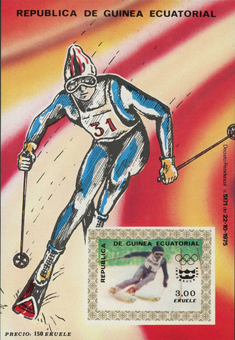 Winter Olympic Games Ski Sport Souvenir Sheet Mint NH