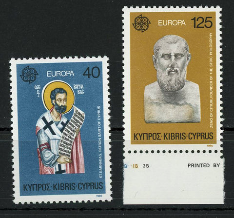 Europe St. Barnabas Stoic Philosophy Famous Figures Serie Set of 2 Stamps MNH