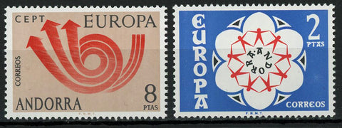 Andorra Europe CEPT Postage Communication Serie Set of 2 Stamp Mint NH