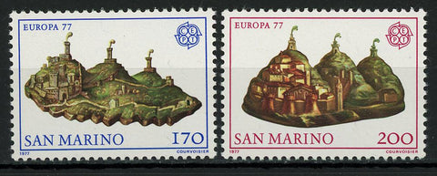 San Marino Europe CEPT Village Mountain Serie Set of 2 Stamp Mint NH