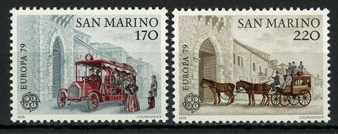 San Marino Europe CEPT Carriage Transportation Serie Set of 2 Stamp Mint NH