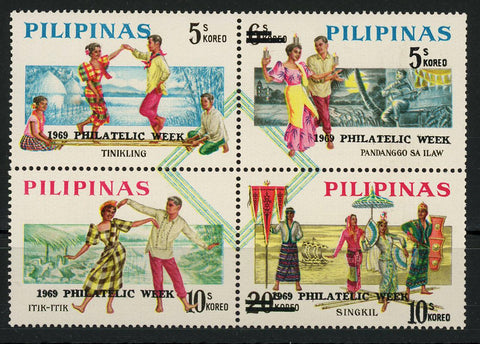 Philippines Philatelic Week Culture Block of 4 Stamps Mint NH
