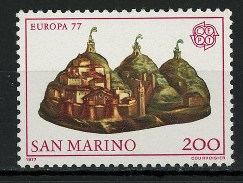 San Marino Europe CEPT Village Mountain Individual Stamp Mint NH