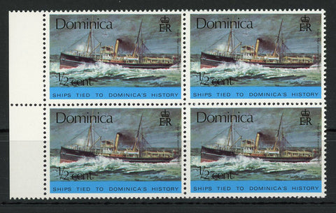 Royal Mail Steamship Yare Transportation Block of 4 Mint NH