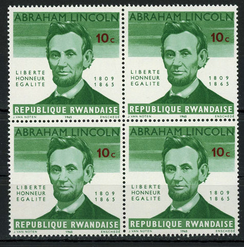 Abraham Lincoln President Historical Figure Block of 4 Stamps MNH