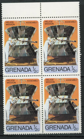 Helios Mission Assembly Spacecraft Probe Block of 4 Stamps MNH