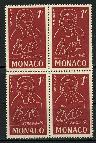Monaco John Baptist de La Salle Priest Education Block of 4 Stamps MNH