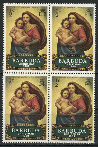 Sistine Madonna Raphael Paint Art Christmas Block of 4 Stamps MNH