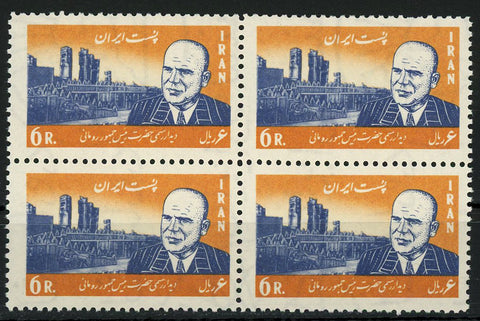 Famous Personalities Figure City Bridge Block of 4 Stamps MNH