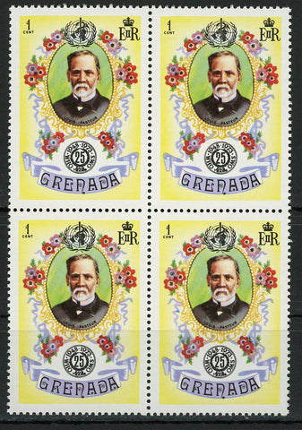 Louis Pasteur Famous People Science Block of 4 Stamps MNH